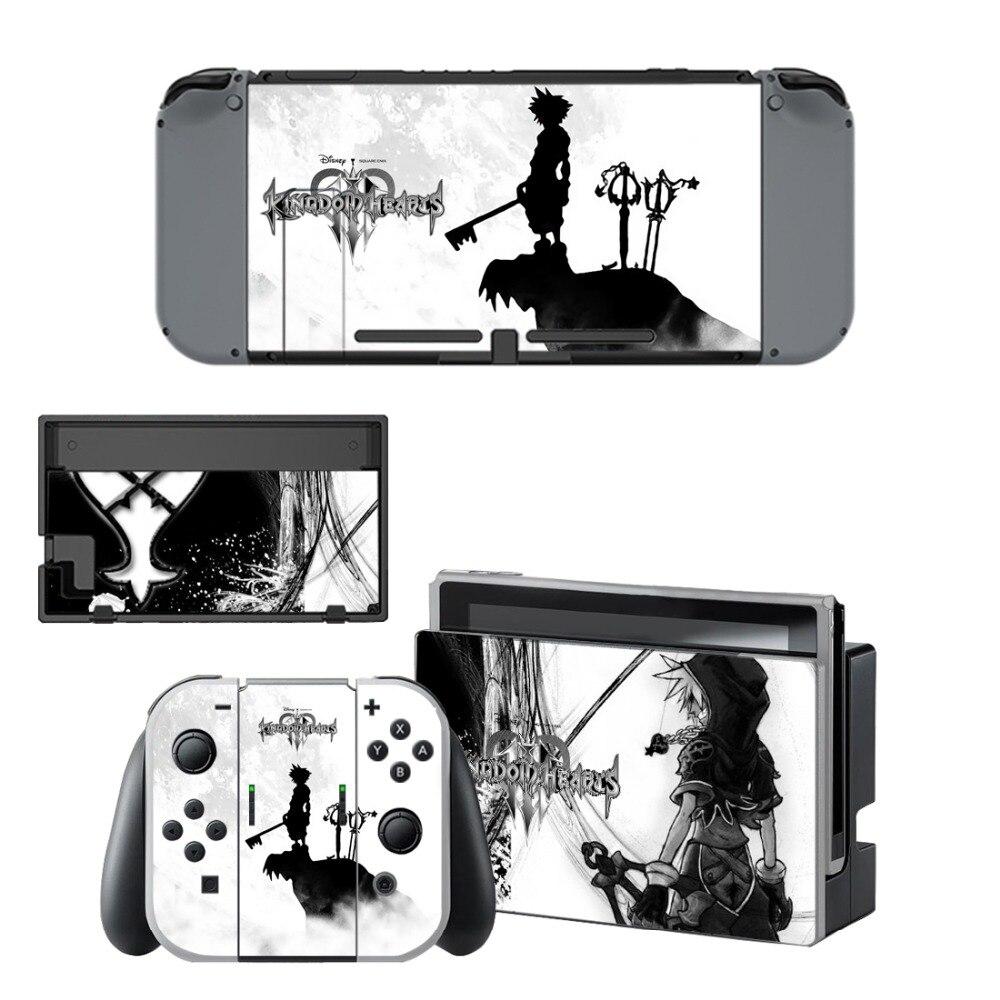Купить с кэшбэком Kingdom Hearts Decal Vinyl Skin Sticker for Nintendo Switch NS Console+Controller+Stand Holder Protective Film