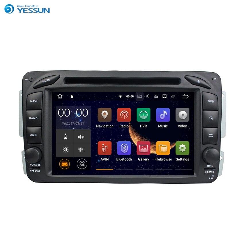 Yessun pour Benz C-W203 série Android système de lecteur multimédia autoradio stéréo GPS Navigation Audio vidéo