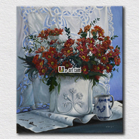 Tiny red flower canvas prints high quality picture painting on the living room wall ars of gift for friends