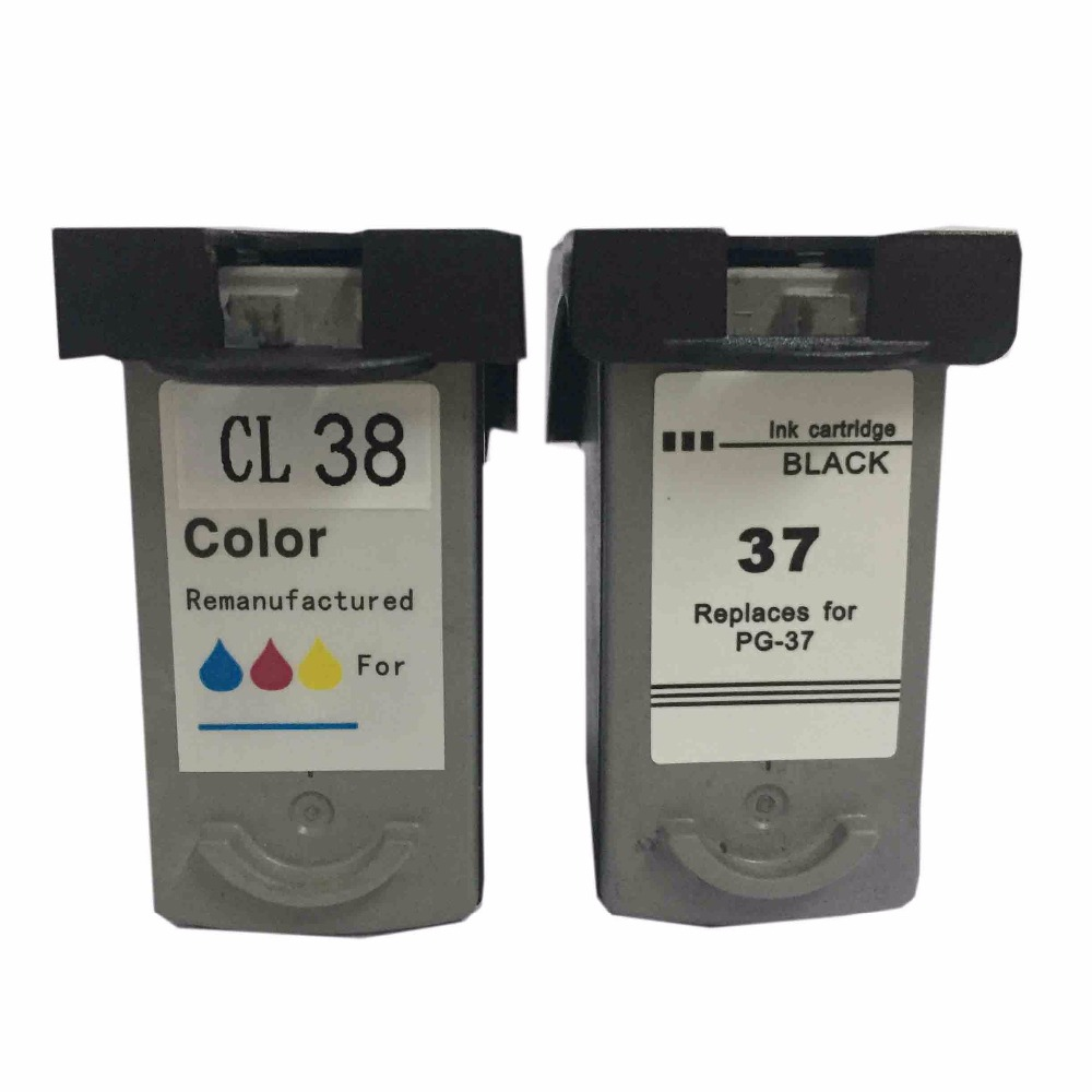 PG-37 CL-38 Ink Cartridge For canon PG37 CL38 For canon PIXMA ip1800 MP140 ip2600 MP160 MP190 MP210 MP220 MP420 IP1900 IP2500