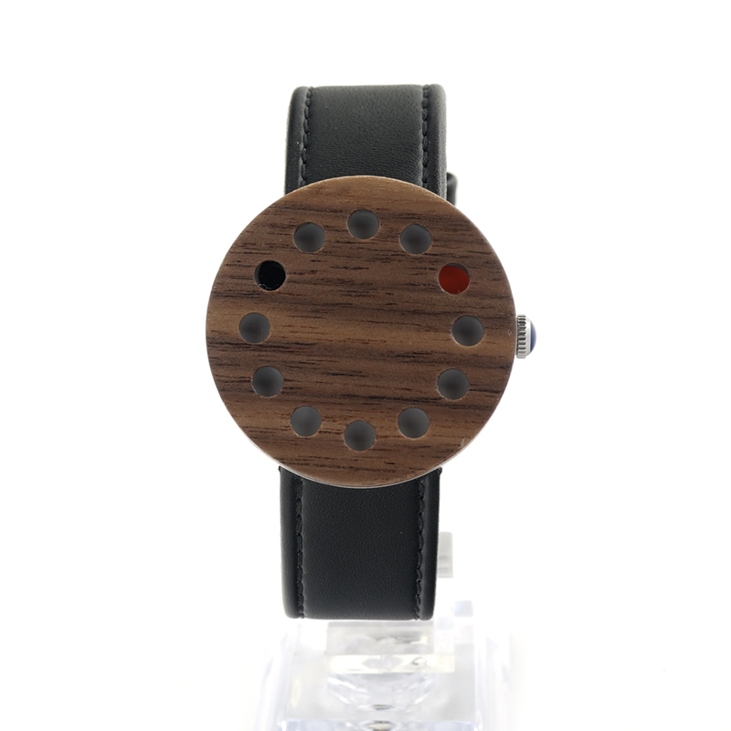 ФОТО BOBO BIRD C12 Wood Wristwatches Fashion Men's Watch 12 Hole Case Leather Band Casual Quartz Watch for Unisex in Paper Gift Box