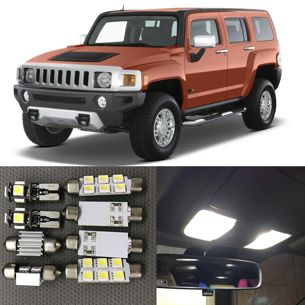 Compare prices on white hummer h3 online shoppingbuy low price 13pc white canbus auto interior led light bulbs kit for 2004 2005 2006 2007 2008 2009 vanachro Gallery