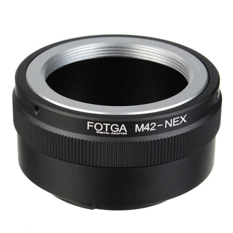 Fotga M42 Adaptadores para objetivos anillo para Sony NEX e-mount NEX nex3 nex5n nex5t A7 a6000 Cámara accesorios profesionales de fotografía