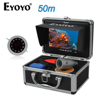 EYOYO Original 1000TVL 50M Underwater Camera For Fishing Fish Finder Full Silver CAM 7 Monitor 12pcs