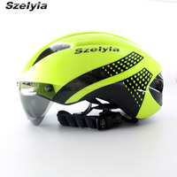 2017 Bicycle Helmet Multi Sunglass Integrally Mtb Road Bike Cycling Helmet 3 Lens Visor Capacete Da