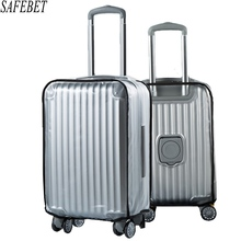 TRAVELSKY Thicker PVC Matte Transparent Waterproof Suitcase Dust Covers Travel Trunk Cases Protective Cover Luggage Accessories