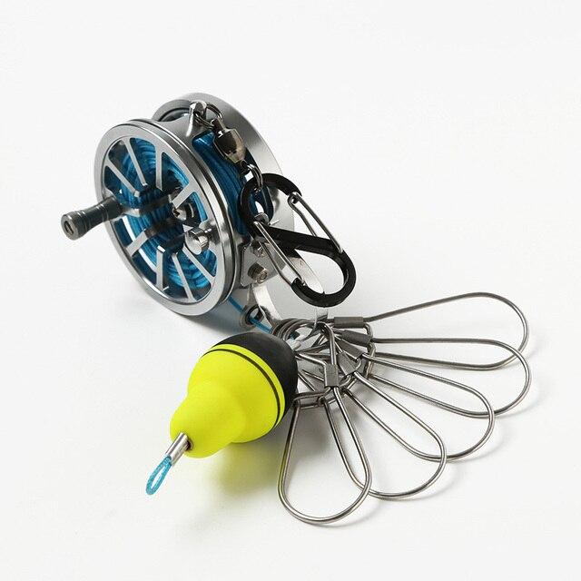 6 m/7 m pêche serrure boucle avec bobine en acier inoxydable poissons vivants serrures longueur de fil 5 serrures outils de pêche accessoires