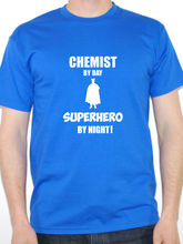 Vintage T Shirts Crew Neck Men Casual Short Chemist By Day Superhero Science Pharmacist Tee Shirts