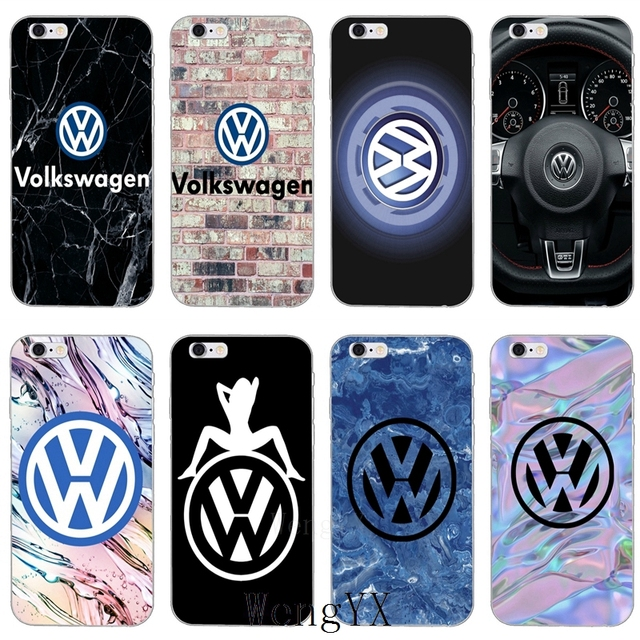 big sale 6a253 2d339 US $1.99  new Volkswagen VW Car Logo marble Slim silicone Soft phone case  For iPhone X 8 8plus 7 7plus 6 6s plus 5 5s 5c SE 4 4s XR XS Max-in ...