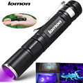 3W Mini Aluminum Portable CREE LED UV Flashlight 365nm Purple Violet Light UV 395nm Lamp AAA Penlight