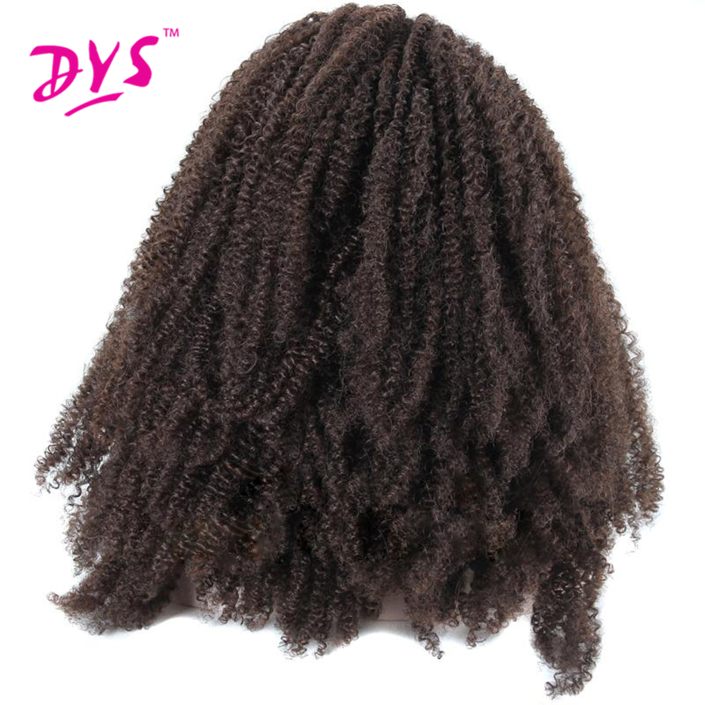 Deyngs Natural BrownBlack Afro Kinky Curly Synthetic Lace Front Wigs 180% Density Heat Resistant Synthetic Women\'s Wigs (1)