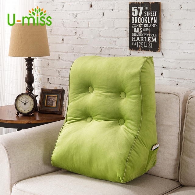 U Miss Sleeping Waist Back Cushion Chair Corn Fleece Fabric Removable Pearl  Fiber Filled Protect