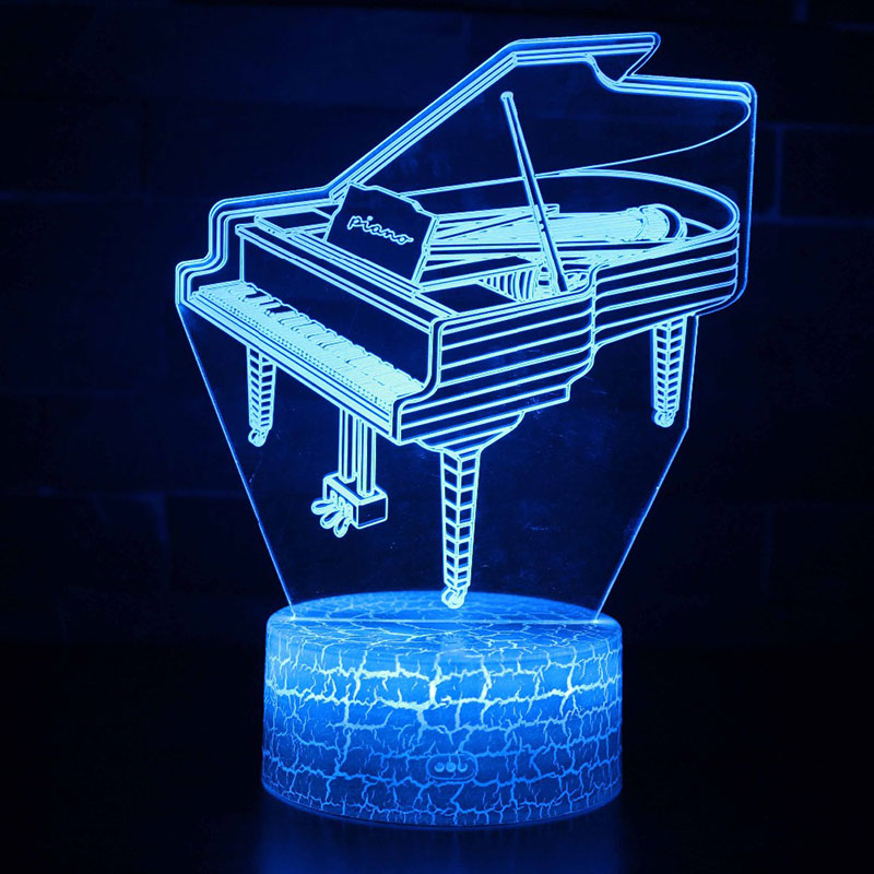Music instrument piano theme 3D Lamp LED night light 7 Color Change Touch Mood Lamp Christmas present DropshipppingMusic instrument piano theme 3D Lamp LED night light 7 Color Change Touch Mood Lamp Christmas present Dropshippping