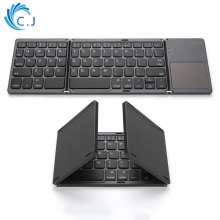 цены Portable Twice Folding Bluetooth Keyboard BT Wireless Foldable Touchpad Keypad for IOS/Android/Windows ipad Tablet