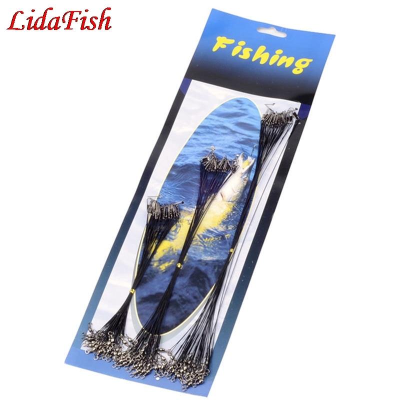 16cm/26cm/31cm Anti Bite Steel Fishing Line Lead Core Leash Steel Wire Leader With Swivel Accessory|Fishing Lines| |  - title=