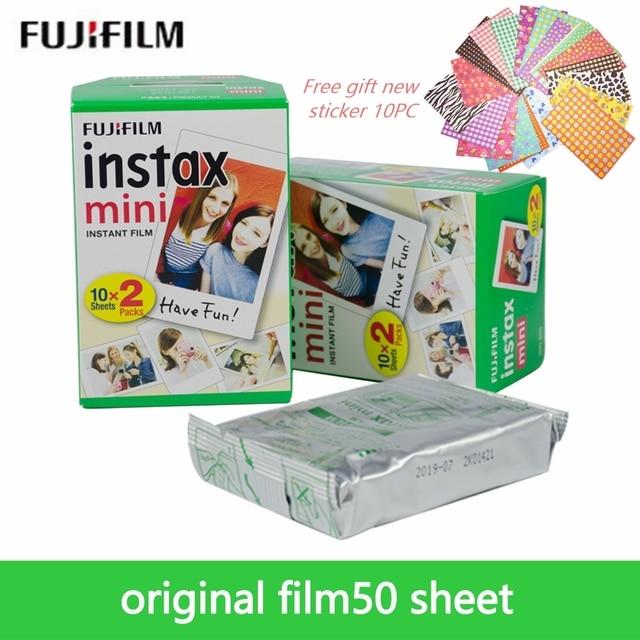 Original Fujifilm Instax Mini 8 Film 3 inches White Edge Photo Papers For Mini 9 7s 90 25 55 Share SP-1 Instant Camera 50 sheets