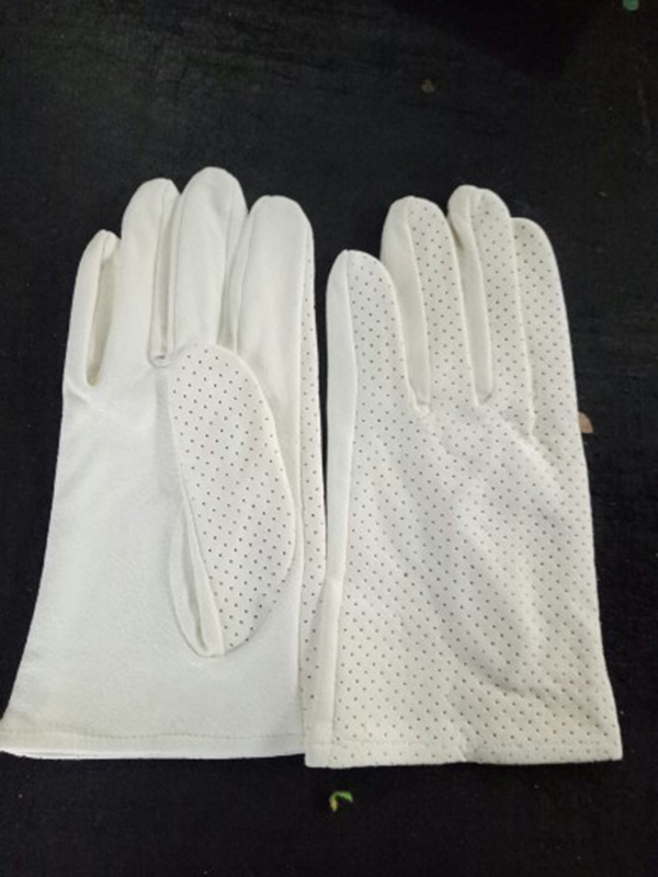 Натуральная замша игровой браслет из деревянных бусин перчатки толстые оленьей кожи Перфорированные дышащие белые кожаные перчатки S73 - Цвет: Suede punching