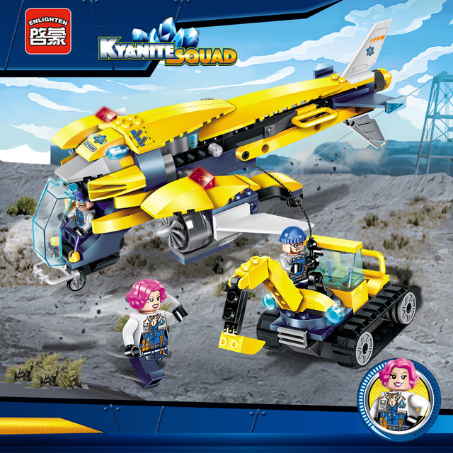 Enlighten City Educational Building Blocks Toys For Children Gifts Transport Aircraft Stickers Vehicel Compatible With Legoe