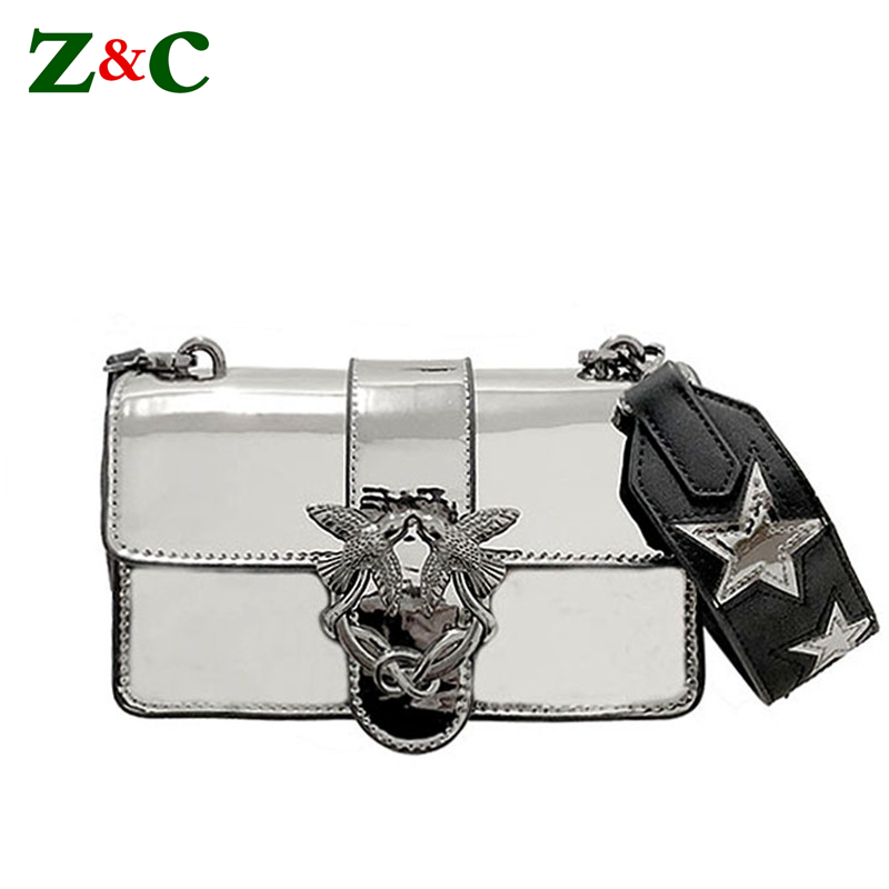 Women Chain Shoulder Bag Messenger Bags Famous Designer Patent Leather Crossbody Bags Swallows Lady Bag/Handbag Original Quality miwind f graffiti istitching chain messenger chain bag women s premium lady oblique crossbody shoulder bags famous brands c c