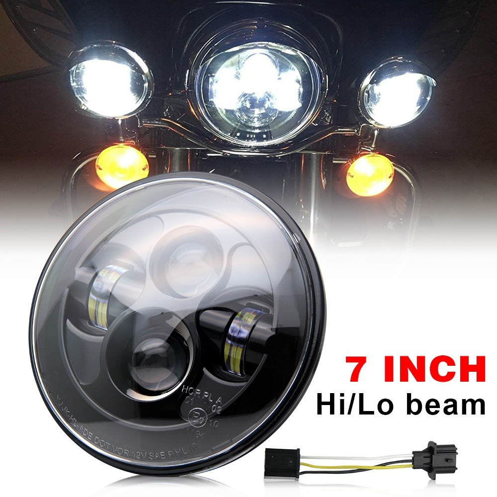 COLIGHT 7 Round Led Headlights Hi/Lo 50W 12V Auto Daytime Running Lights for Jeep Wrangler JK TJ Lada Niva Toyota Car Styling led car headlights 7 angelic eyes 50w h4 hi lo with mask for jeep lada nissan safari nissan patrol toyota land cruiser prado