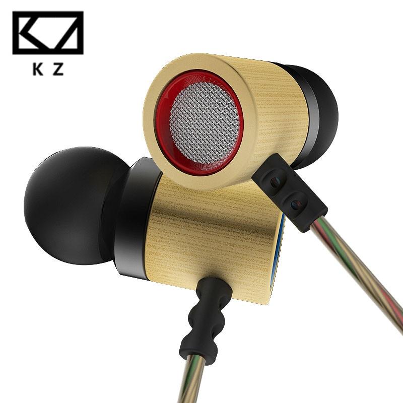 Original KZ ED7 New Bamboo Wood Earphone Wired Headset Bracelet Bass Stereo Headset For Mobile Phone MP3 MP4 fone de ouvido energo ed 7 0 230 w220r