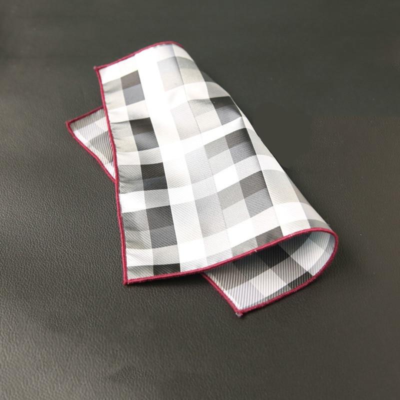 Mantieqingway Mens Handkerchief Pocket Square For Wedding Tuxedo Striped Hankies Polyester Classic Chest Towel