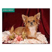 Lovely Chihuahua dog Diamond Embroidery Pictures Of Rhinestones Room Decoration Handcraft diamond Mosaics Painting Sets