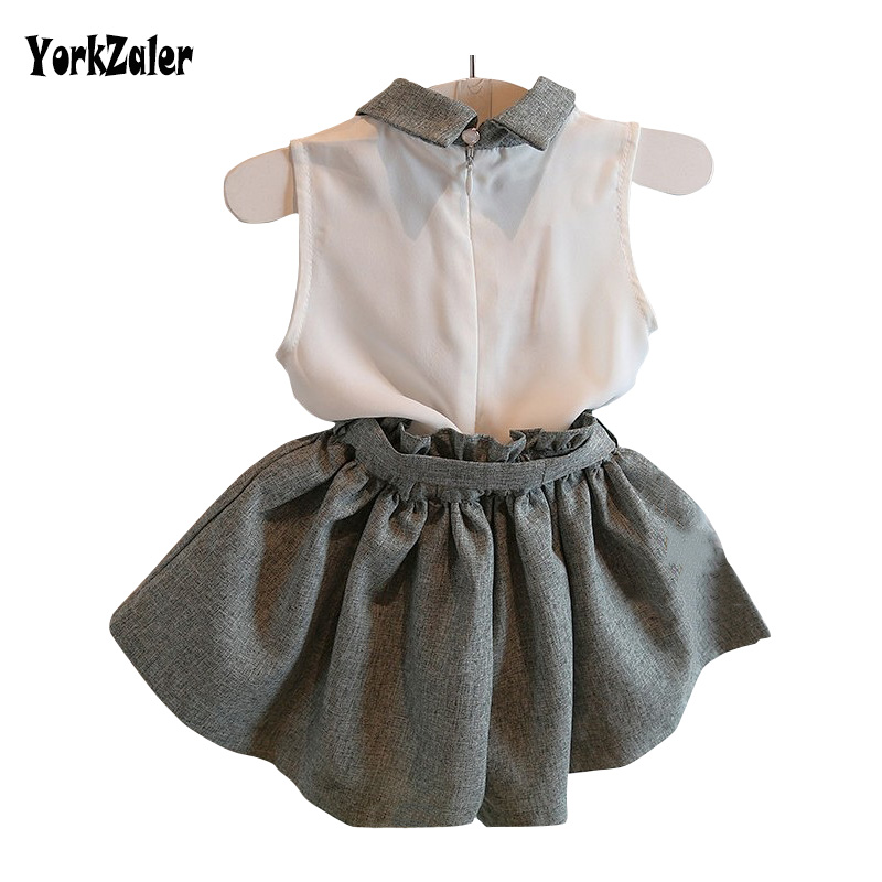 Baby girl clothes set summer chiffon clothing children and kids high quality baby girls clothing kids set suit with belt retial baby girls summer clothing girls july 4th anchored in god s word shorts clothes kids anchor clothing with accessories