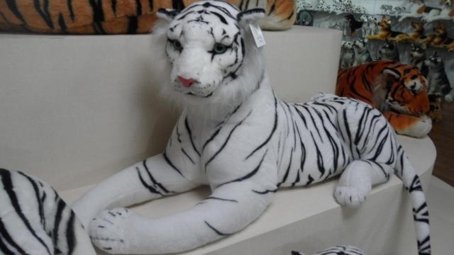 stuffed animal 60 cm plush lying tiger toy white tiger doll great gift w496(China (Mainland))