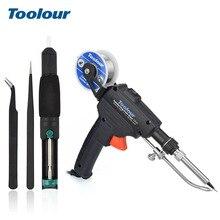 Toolour ue/eua 60 w automático enviar pistola de estanho hand held aquecimento interno estação de retrabalho de solda bomba desoldering ferramenta de solda