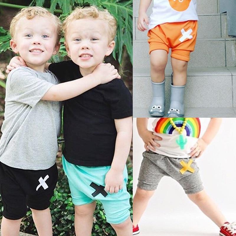 Preppy Style Fashion Children Kids Summer Harem Short Pants 4 Colors Kids Boys Outwear Clothes Kikikids