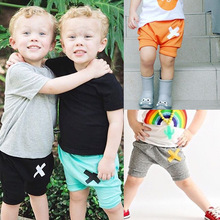 Preppy Style Fashion Children Kids Summer Harem Short Pants Four Colors Kids Boys Outwear Clothes Kikikids Boys Shorts 1-6 Years