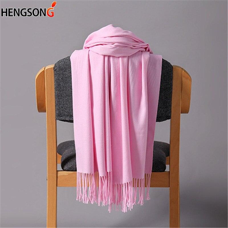 Autumn Winter Warm Women Scarves And Wraps Fashion Tassel Scarves Female Hijab Stole Pashmina Winter Scarf