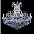 Роскошные синие белые люстры кристально чистая винтажная хрустальная люстра освещение отеля лампа для домашнего освещения