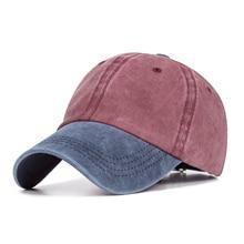 4d072463686b8 Spring Summer New Washed Baseball Cap Men Women Korean Version Of The  Outdoor Sunshade Hat Casual