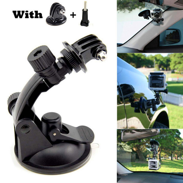go pro Car Suction Cup Mount Holder Tripod Mount Adapter for Gopro Hero 4 3+ Session sjcam sj4000 Aluminum xiaomi yi Accessories