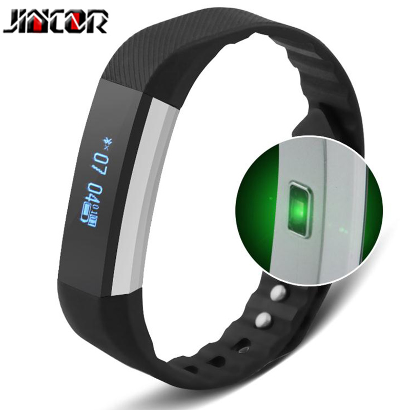 JINCOR smart bracelet B3 fashion sports fitness tracker heart rate sleep monitor waterproof information to remind
