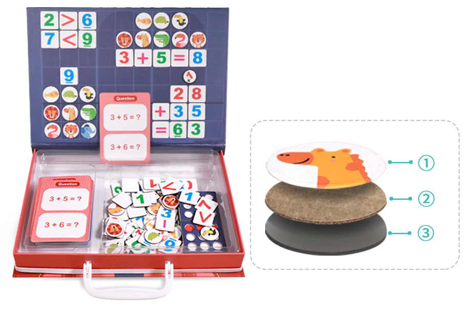Magnetic Montessori Math Toy Arithmetic Addition Subtraction Mathematics Puzzle Game Educational Toys Teaching Count Aid Gift_17