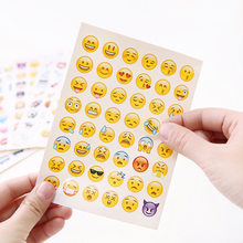 Cute Lovely 48 Die Cut Emoji Smile Stickers decal For laptop sticker Notebook Message mobile phone High Vinyl Funny Creative(China)