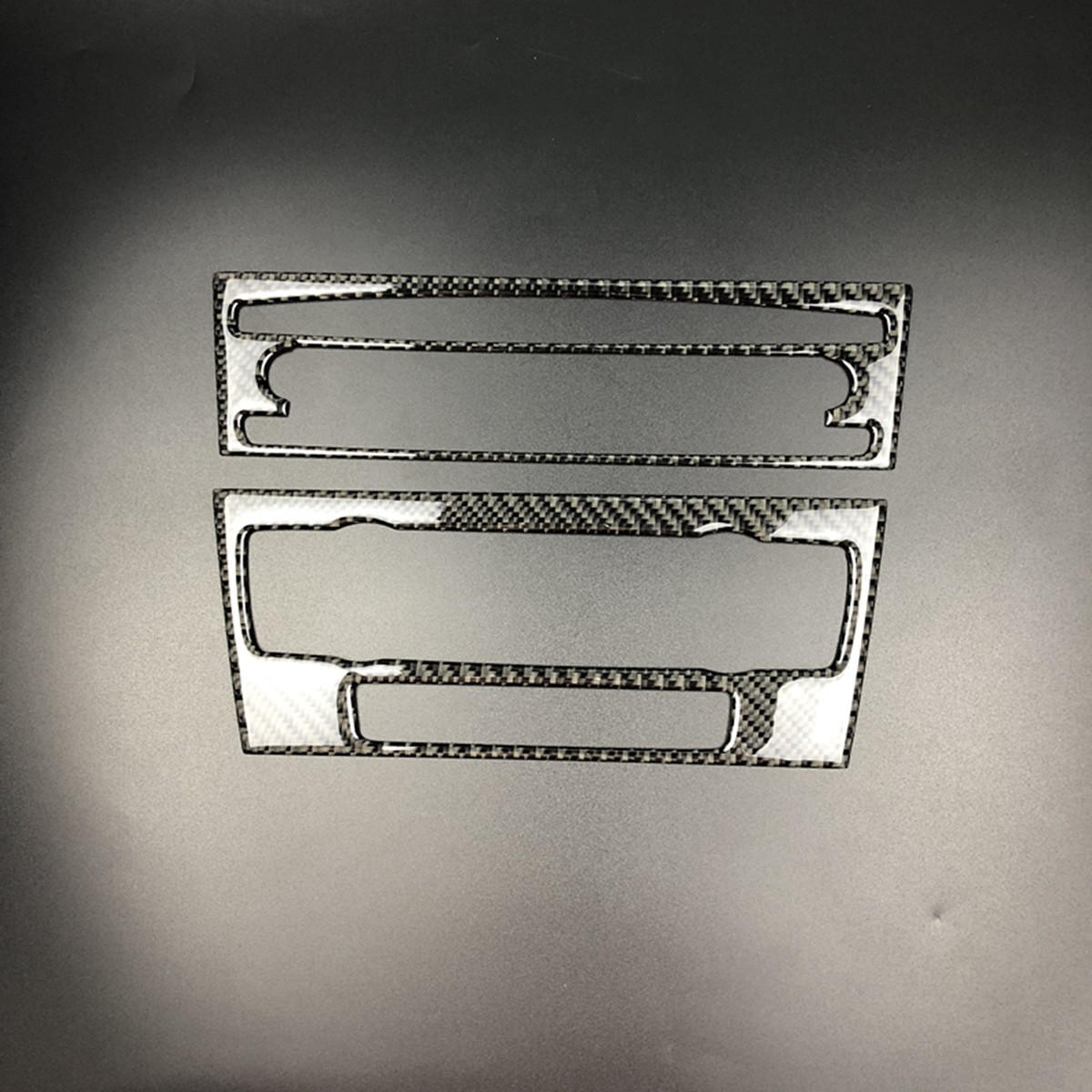 Car Air Conditioning CD Control Panel Trim Carbon Fiber Decoration for BMW E90 E92 E93 3 Series Interior Accessories Car styling