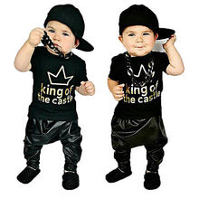 Baby Boy Girl Top T-shirt Harem Pants Outfit Baby Clothes Set Baby Clothing Set