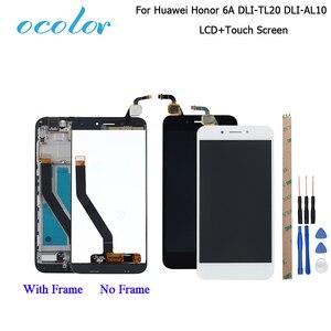 Image 1 - Ocolor עבור Huawei Honor 6A DLI TL20 DLI AL10 LCD תצוגת מסך מגע + מסגרת עצרת עבור Huawei Honor 6A פרו LCD + כלים