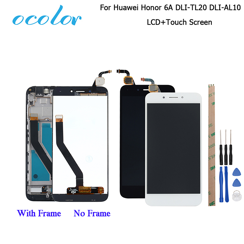 ocolor For Huawei Honor 6A DLI TL20 DLI AL10 LCD Display and Touch Screen +Frame Assembly For Huawei Honor 6A Pro LCD +Toolsscreen touchdisplay lcd touch screenlcd display touch screen -