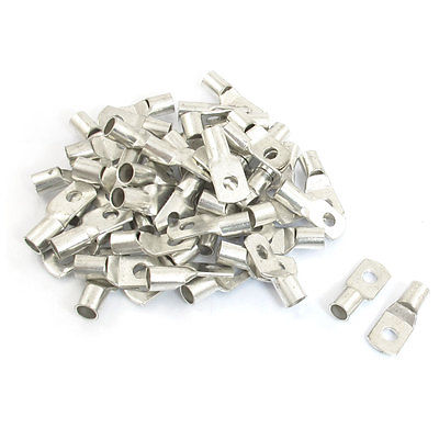 50 Pcs Non-insulated Ring Tongue Terminal Connector for 16-14 AWG Free shipping 500 pcs rv5 5 10 awg 12 10 yellow sleeve pre insulated ring terminals connector free shipping