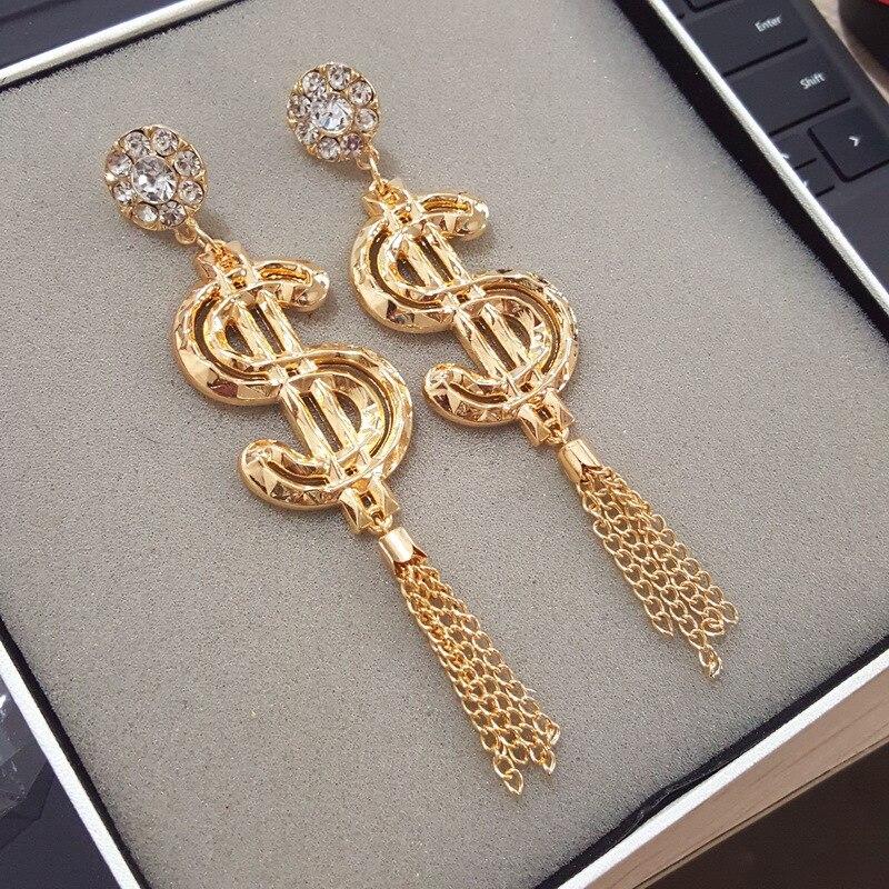 Creative Long Earrings Nightclub Elements Personalized Fashion Drop Earrings For Women Exaggerated Rock Queen Women Earrings in Drop Earrings from Jewelry Accessories