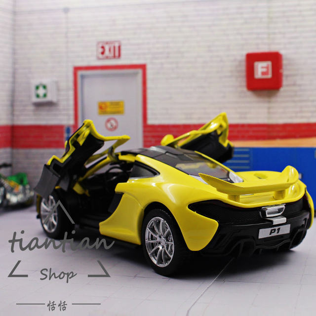 1:32 Car Model McLaren P1 Strong Pull Back Open The Door Sound And Light