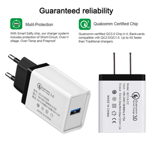 Image 3 - 5V 3.5A QC3.0 Universal Fast charging Phone Charger for iphone XS HuaweITravel Charger Wall Adapter for Xiaomi Samsung tablets