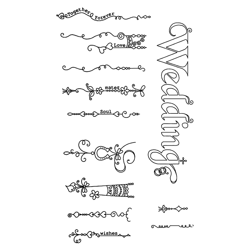 Wedding Lace Clear Stamps Seal For DIY Scrapbooking Decorative Card Making Craft Fun Decoration Supplies in Stamps from Home Garden