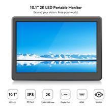 Elecrow 10.1 인치 모니터 2560*1600 p led 휴대용 컴퓨터 모니터 hdmi lcd 디스플레이 ips 2 k 화면 라즈베리 파이 디스플레이
