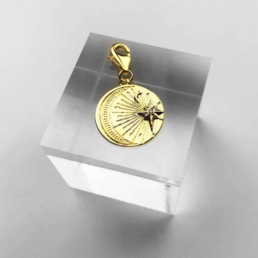 الذهب القمر ستار الشمس سحر 925 فضة قلادة DIY اكسسوارات صالح توماس نمط سحر أساور قلادة والفضة والمجوهرات